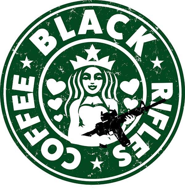 black rifles black coffee design