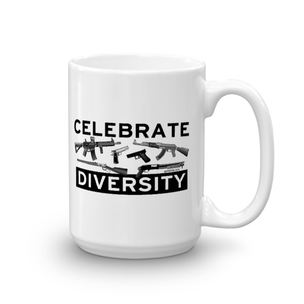Celebrate Diversity Guns Coffee Mug