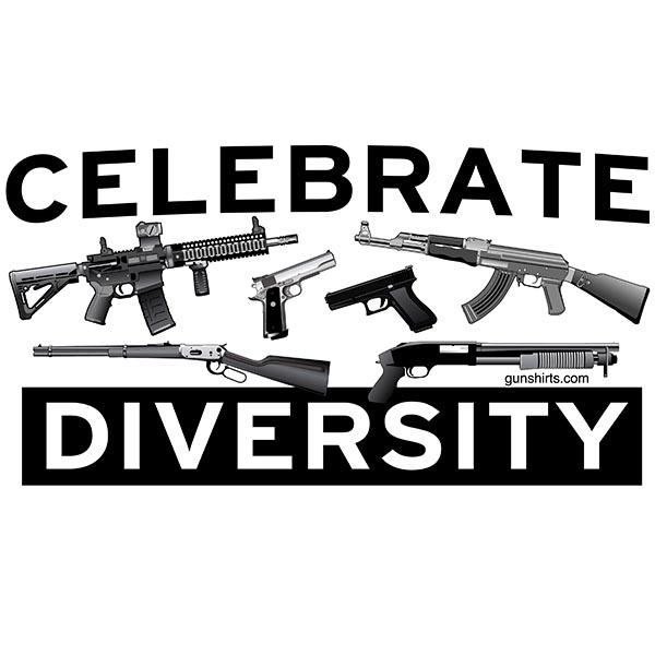 celebrate diversity guns design