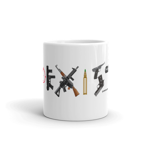 Coexist Guns 11oz. and 15oz. Coffee Mugs