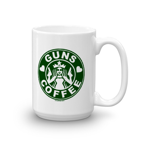 I Love Guns and Coffee Coffee Mug