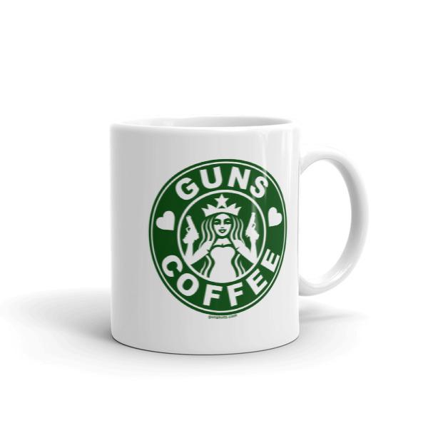 I Love Guns and Coffee Coffee Mug
