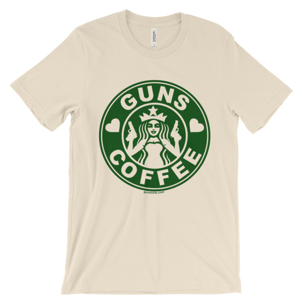 I Love Guns and Coffee Unisex short sleeve t-shirt - light colors