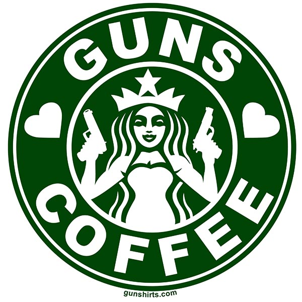 i love guns and coffee lights design