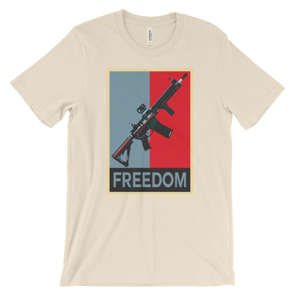 M4 Rifle Freedom Unisex short sleeve t-shirt - light colors