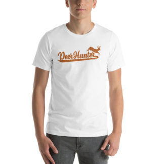 deer-hunter-script-design-white-t-shirt