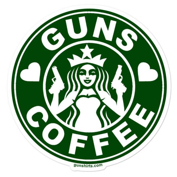 guns-coffee-sticker-green